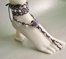 Purple Barefoot Sandals Foot Jewelry