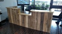 Custom Made Rustic Reclaimed Wood And Live Edge Reception ...