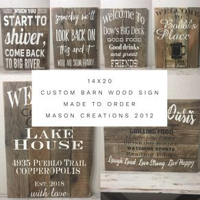 custom signs personalized wood