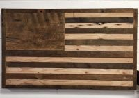 Buy a Hand Crafted Reclaimed Wood American Flag Wall Decor ...