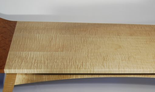 Buy A Hand Crafted Curly Maple Amp Curly Cherry Coffee Table