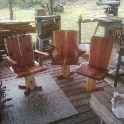 Leather Dining Room Chairs Coleman Lawn Hand Made Cedar Slab By Indian Creek Farm | Custommade.com