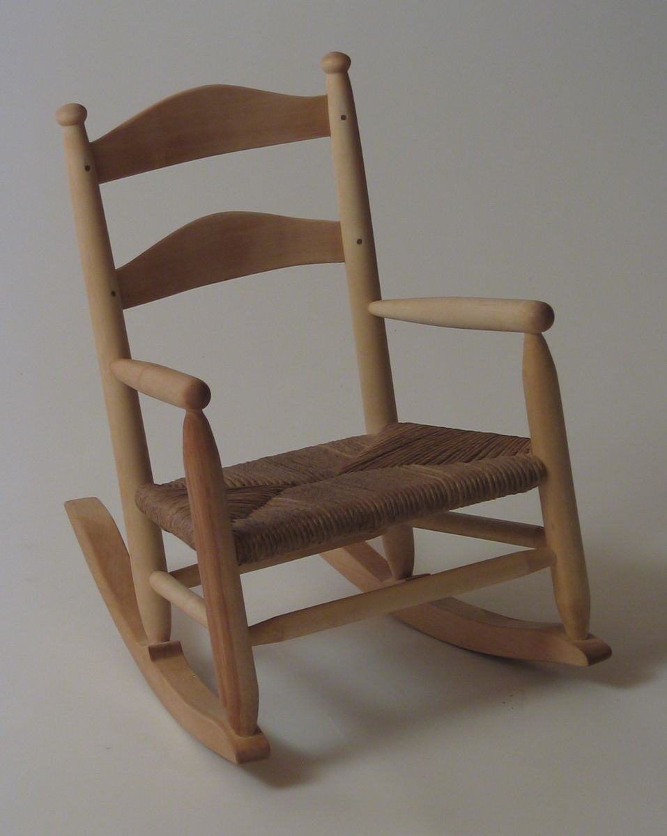 Hand Crafted Child's Rocking Chair by Silvertree