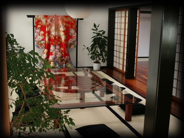 Hand Crafted Japanese Tables And Media Cabinet With Obi