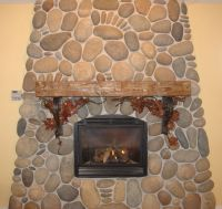 Hand Crafted Fireplace Mantel With Corbels by Iron Willow ...