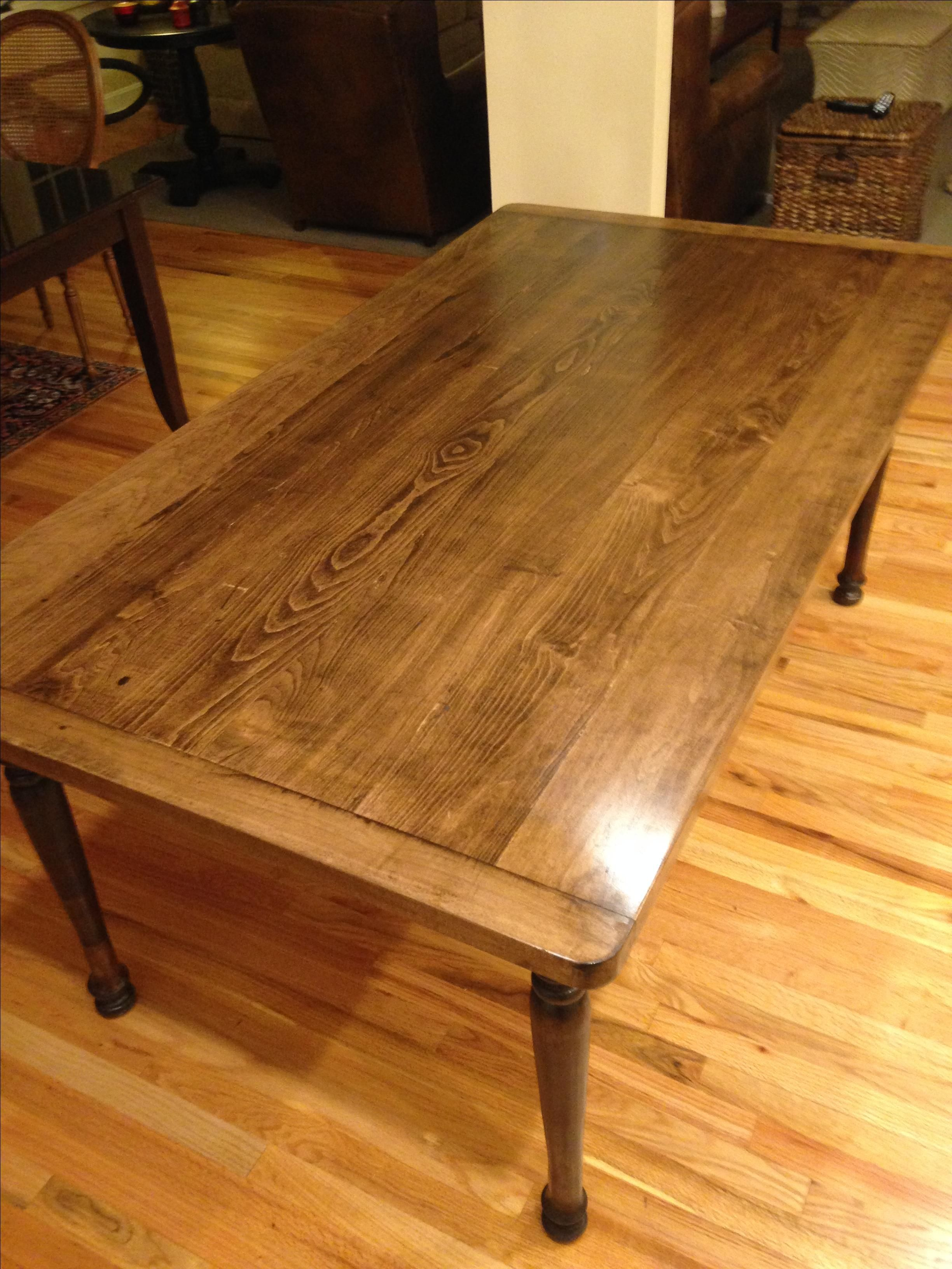 Hand Crafted Solid Maple Farmhouse Dining Table With Turned Legs By Edelmans Wood Designs