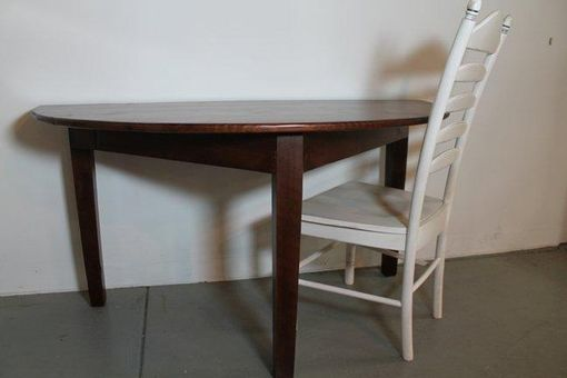 Custom Made Small Half Circle Dining Table By ECustomFinishes Reclaimed Wood Furniture