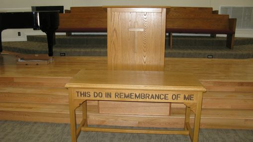 Handmade A Church Communion Table And Pulpit by Toms