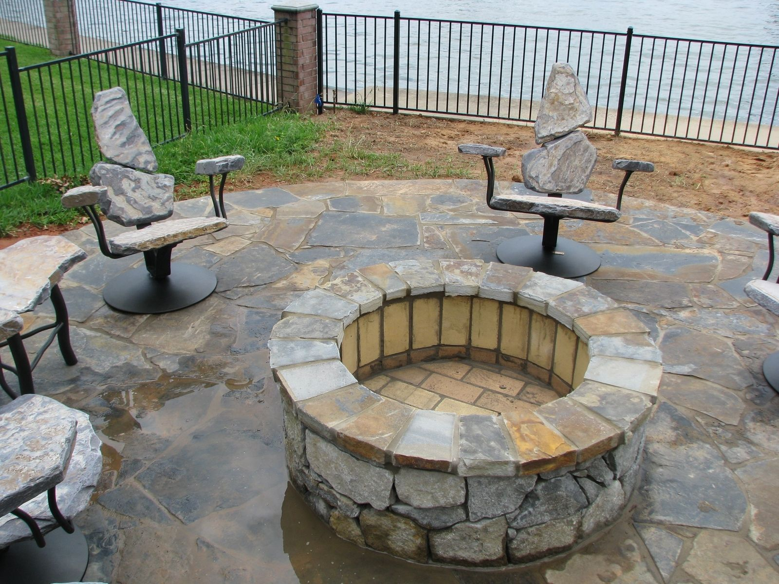 Firepit Chairs Hand Made Fire Pit Chairs By Stone 2 Furniture