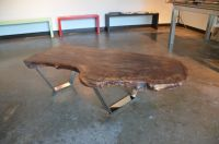 Custom Made Claro Walnut Slab Coffee Table by Sarabi ...