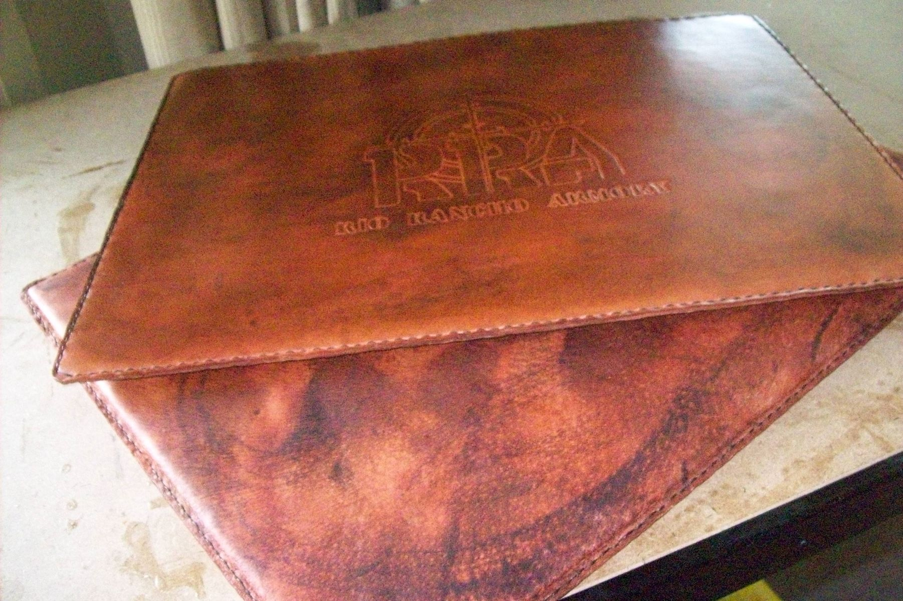 Buy a Hand Made Custom Leather PadMat made to order from