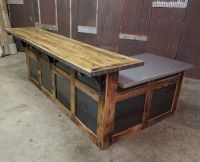 Hand Made Reclaimed Barnwood And Steel Reception Desk by ...