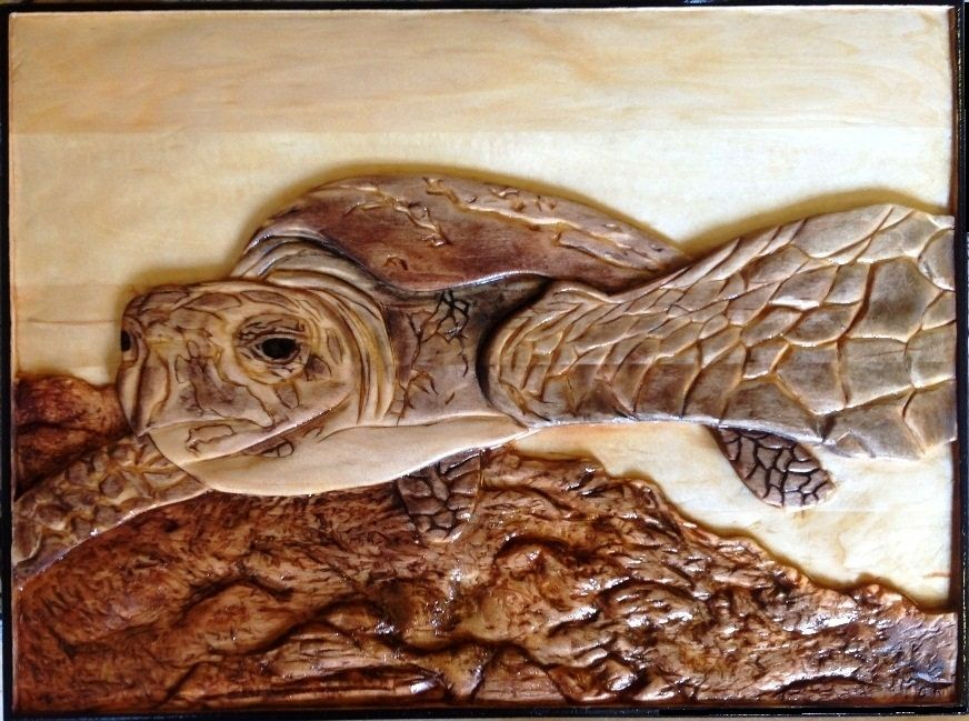 Custom Made Sea Turtle By Relief Carvings By Mark Ash