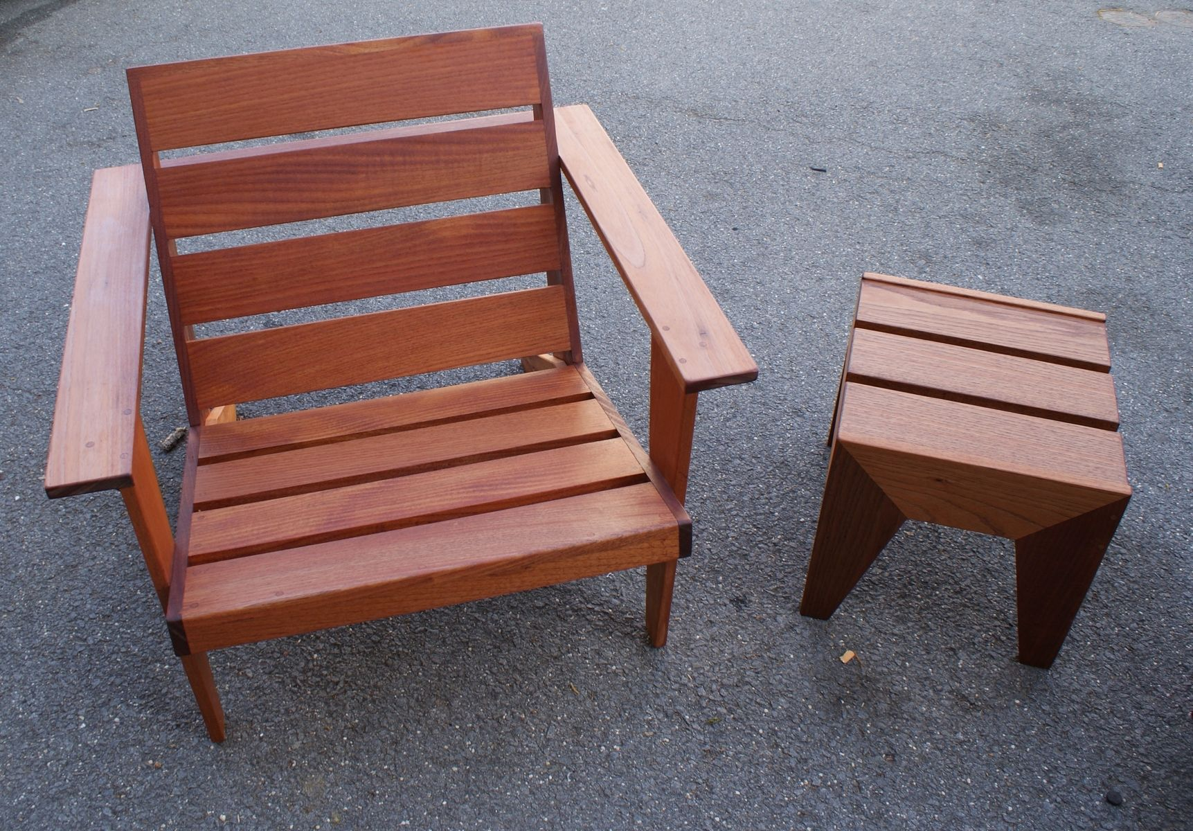 modern style adirondack chairs ergonomic executive chair hand made and table by hudson woodworking custom
