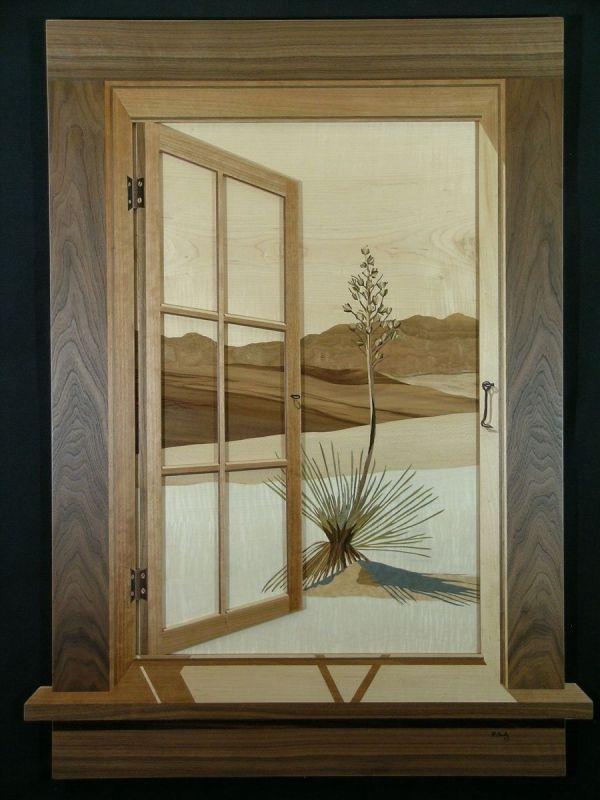 Hand Marquetry Window Scenes Rich Gady Fine Art