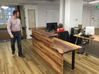 Buy a Custom Made Reception Desk, made to order from ...