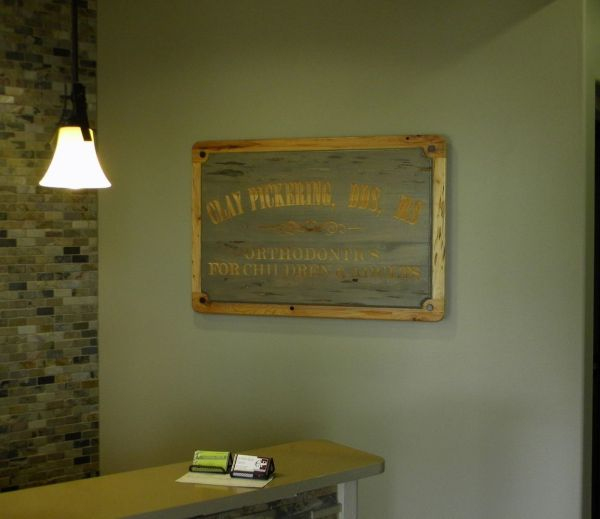 Hand Crafted Dental Office Sign North Texas Wood Works