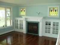 Handmade Eastlake Fireplace And Side Cabinets by ...
