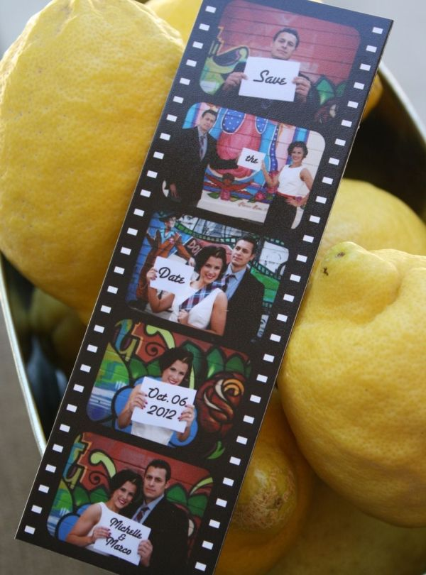 Hand Save Date Booth Film Strip Magnet