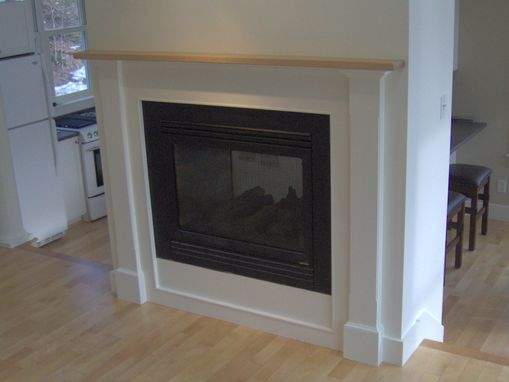 personalized kitchen gifts narrow islands hand made fireplace surround with solid maple mantel by ...