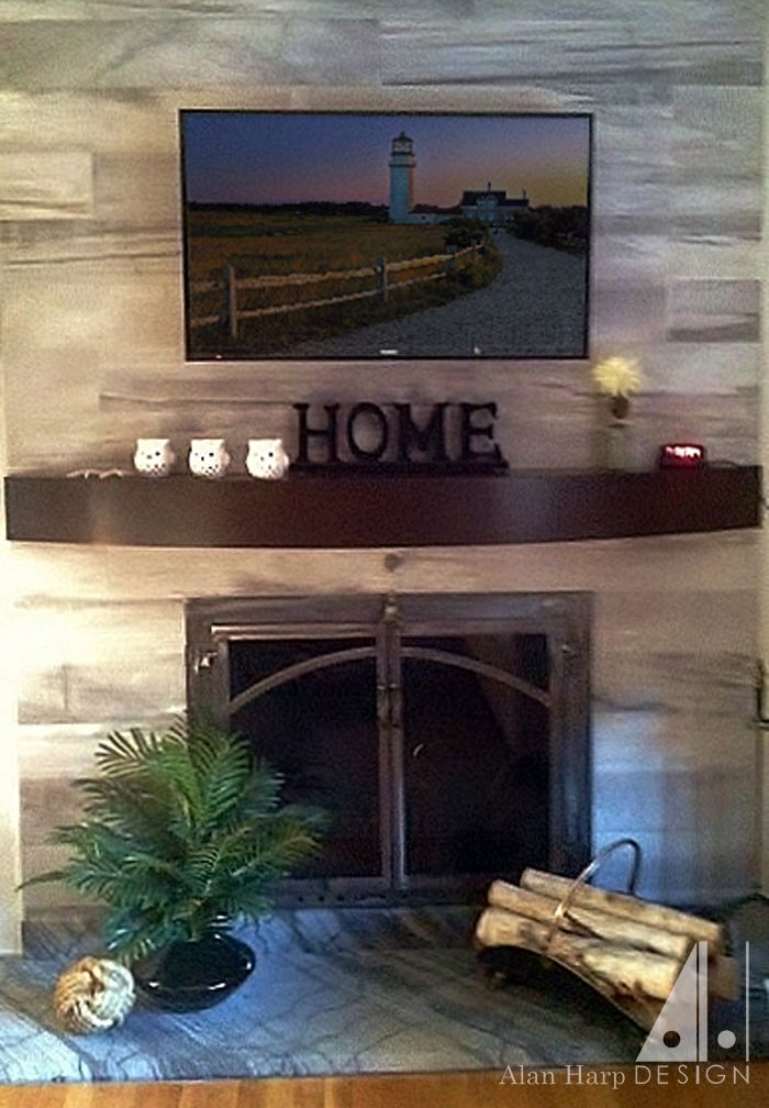 Handmade Curved Mantel Shelf by Alan Harp Design  CustomMadecom