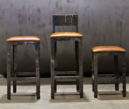 Hand Made Industrial Pub Height Table  Bar Stools by