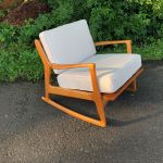 Handmade Reproduction Selig Mid Century Modern Rocking Chair Lounge Chair By Don Yacovella Custommade Com