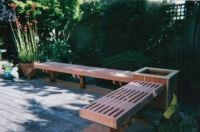 Custom Traditional Redwood Outdoor Patio Benches by ...