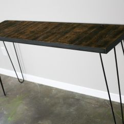 Wooden Sofa Table Legs Bed Uk Review Buy A Hand Crafted Console With Reclaimed Wood