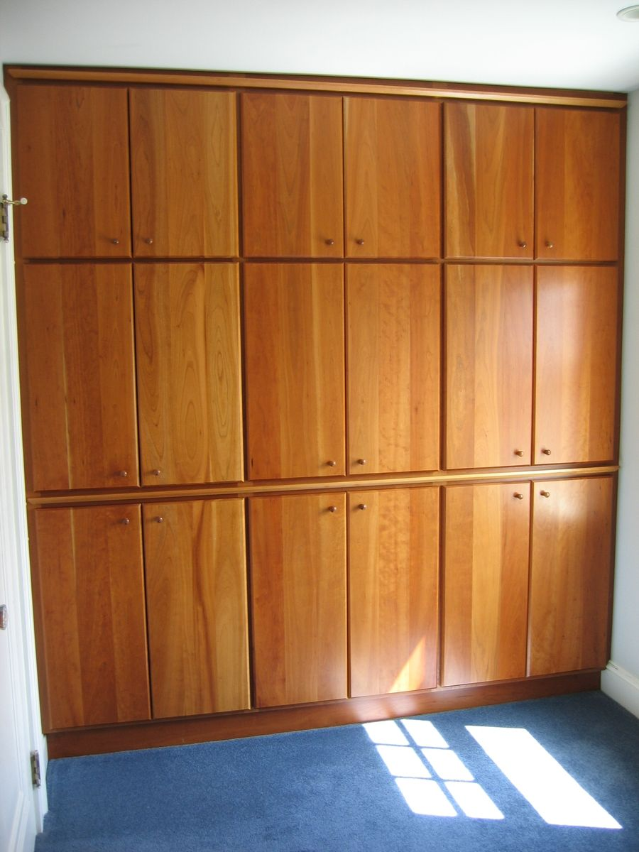 Hand Made BuiltIn Closet Wall With Solid Cherry Doors by Beacon Custom Woodwork  CustomMadecom