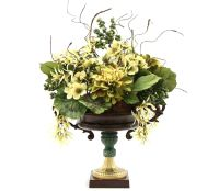 Hand Made Dining Table Centerpiece Silk Flower Arrangement ...