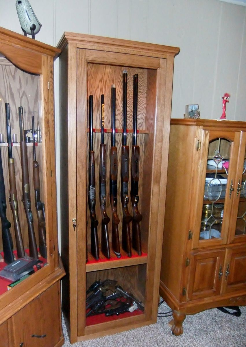 Hand Made Gun Cabinet by Port Wood Works  CustomMadecom