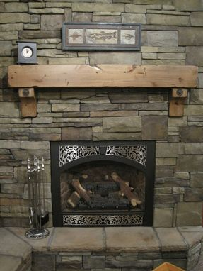 Buy A Hand Crafted Knotty Alder Fireplace Beam Mantel