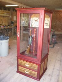 Hand Made Exotic Wood Gun Cabinet by Ore Dock Design ...