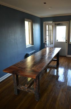 Hand Crafted Authentic Barn Wood White Oak Farmhouse Table By The Lazarus Wood Project