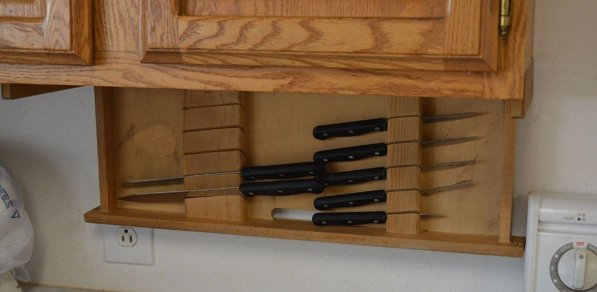 Buy a Custom Under Cabinet Knife Drawer made to order