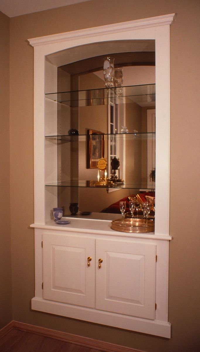 Hand Crafted Built In Wall Cabinet by Fred Miller Custom