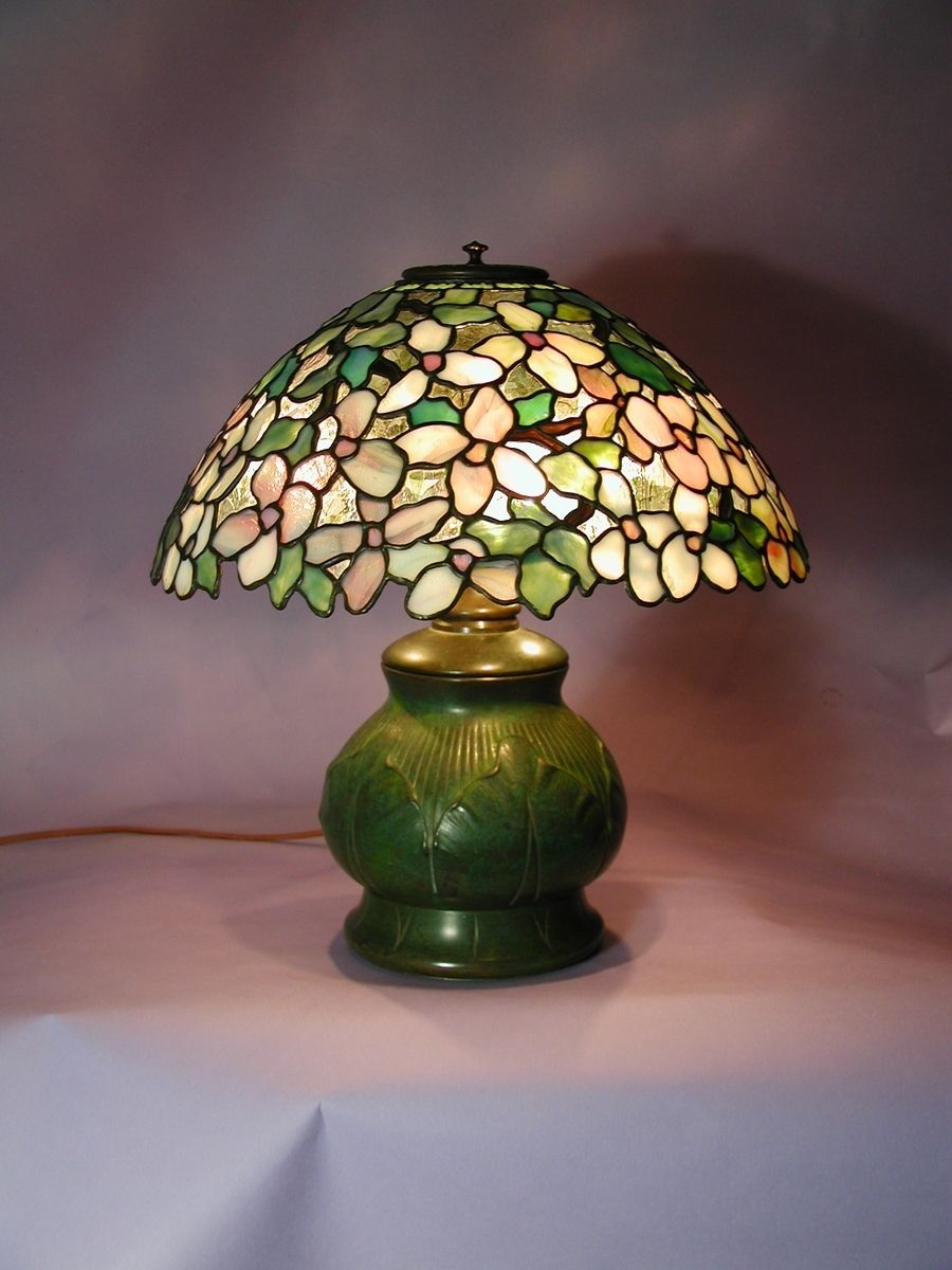 Custom Made Dogwood Shade On Tiffany Studios Base By Brian