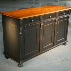 Kitchen Sideboards Cabinets Online Custom Made Black Island From Reclaimed Pine Sideboard By