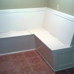 Kitchen Bench Seating With Storage Reclaimed Cabinets Handmade Built In Banquette By Custom Made