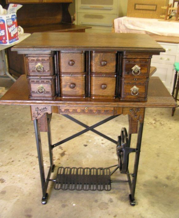 Handmade Old Sewing Machine Legs Repurposed by New