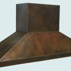 Antique Kitchen Sinks Stainless Steel Hood Hand Made Bronze Range With Stack & Pyramid Shape By ...