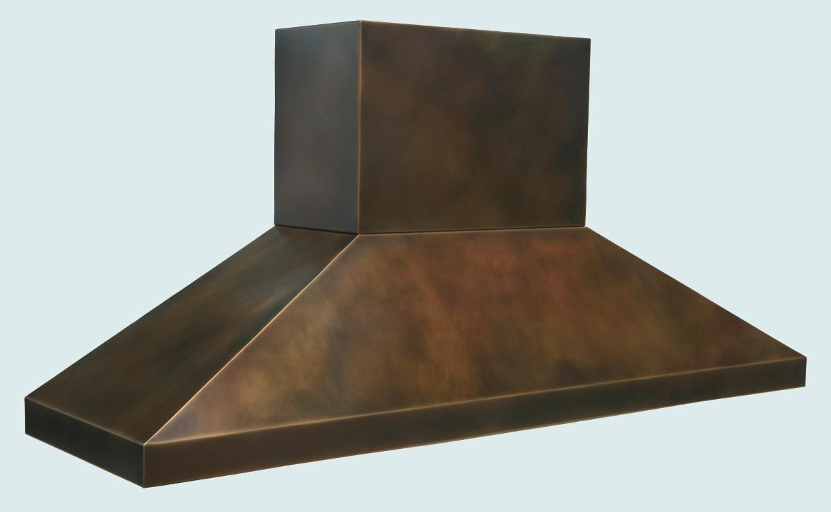 antique kitchen sinks costco hand made bronze range hood with stack & pyramid shape by ...