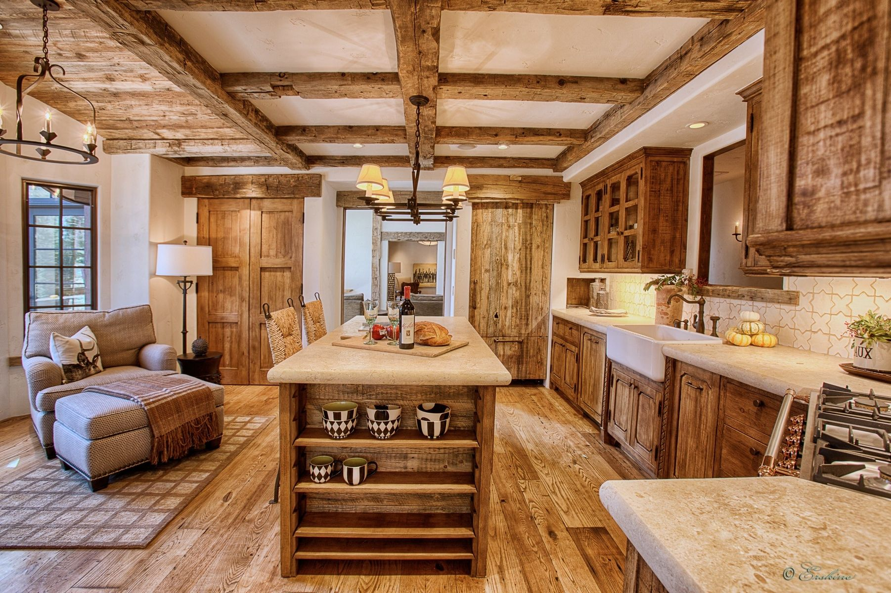 Custom Sugar Pine Kitchen Cabinetry By Bratt Brothers