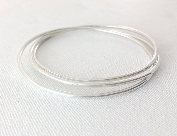 Buy A Hand Crafted Hammered Bangles Stacking Bangles Set