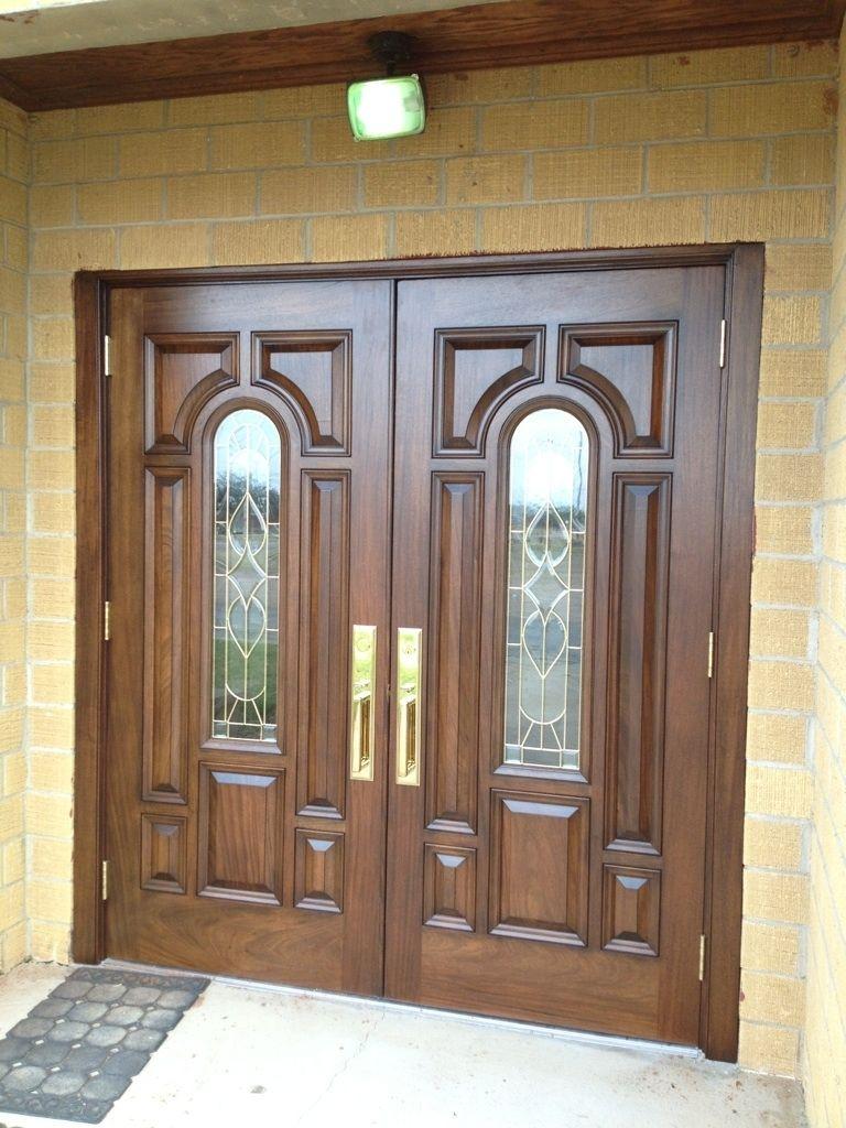 Hand Crafted Mahogany Church Doors by Albert Ironwood  CustomMadecom