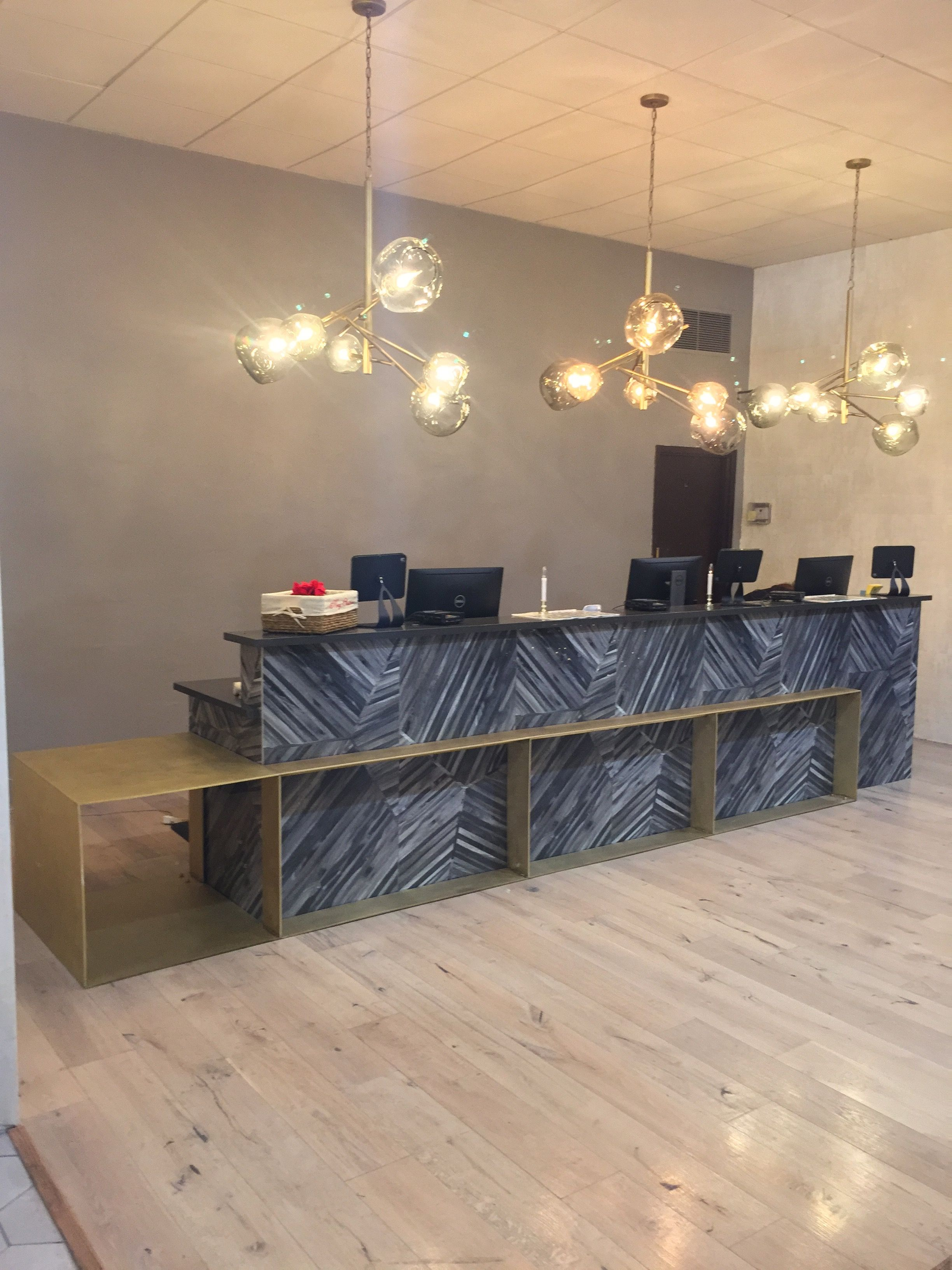 Hand Crafted Brass Hotel Reception Counter by Wanderlust