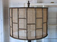 Hand Crafted Industrial Metal Table Lamp With Burlap Shade ...