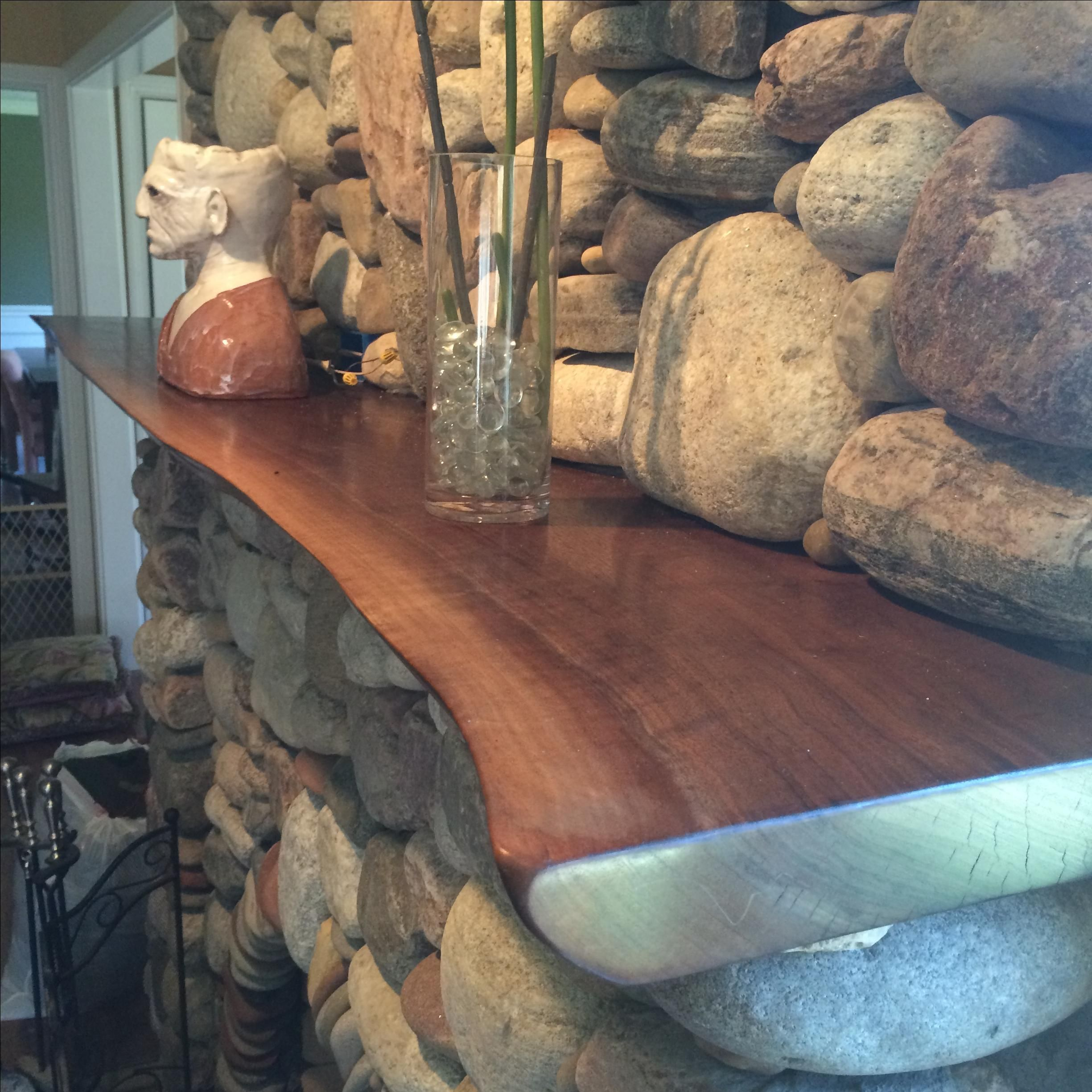 Hand Made Live Edge Walnut Mantle by Powell Woodworks  CustomMadecom