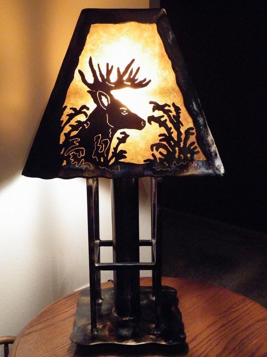 Hand Made Deer Table Lamp by Dakota Rustic Creations